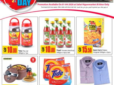 Deal of the day at Safari Qatar | Wednesday 01-04-2020