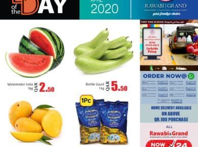 Grand & Rawabi Qatar weekend offers on 3 April 2020