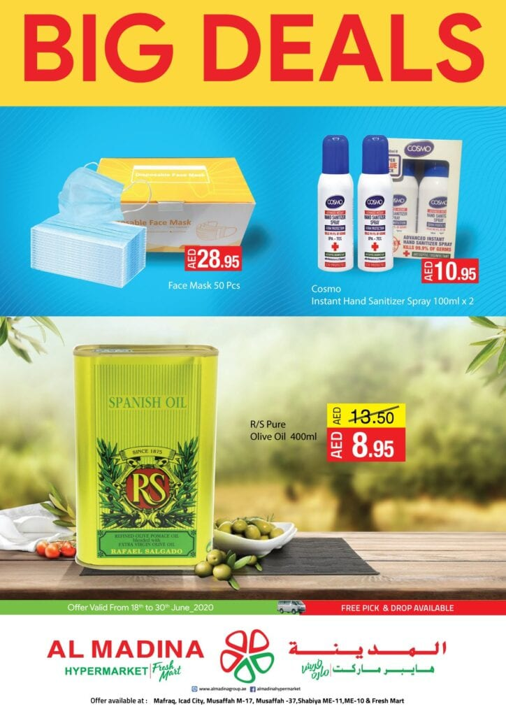 Big deals at Al Madina hypermarket UAE to 30 June