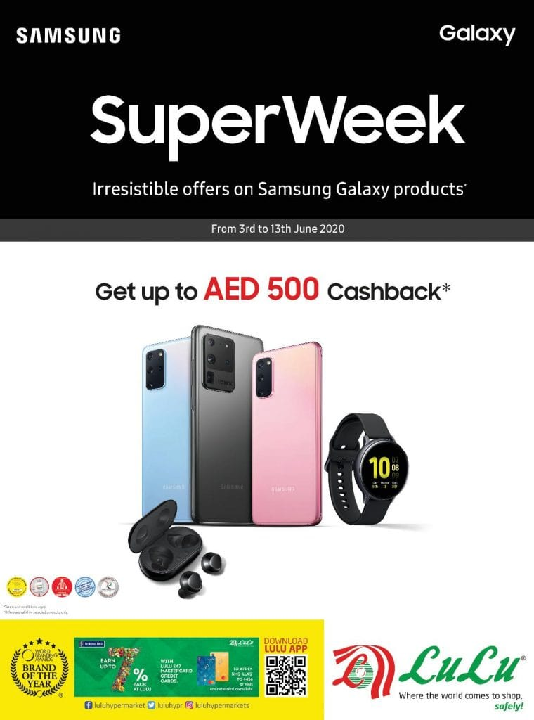 Irresistible offers on Samsung Galaxy products at Lulu UAE to 13 June